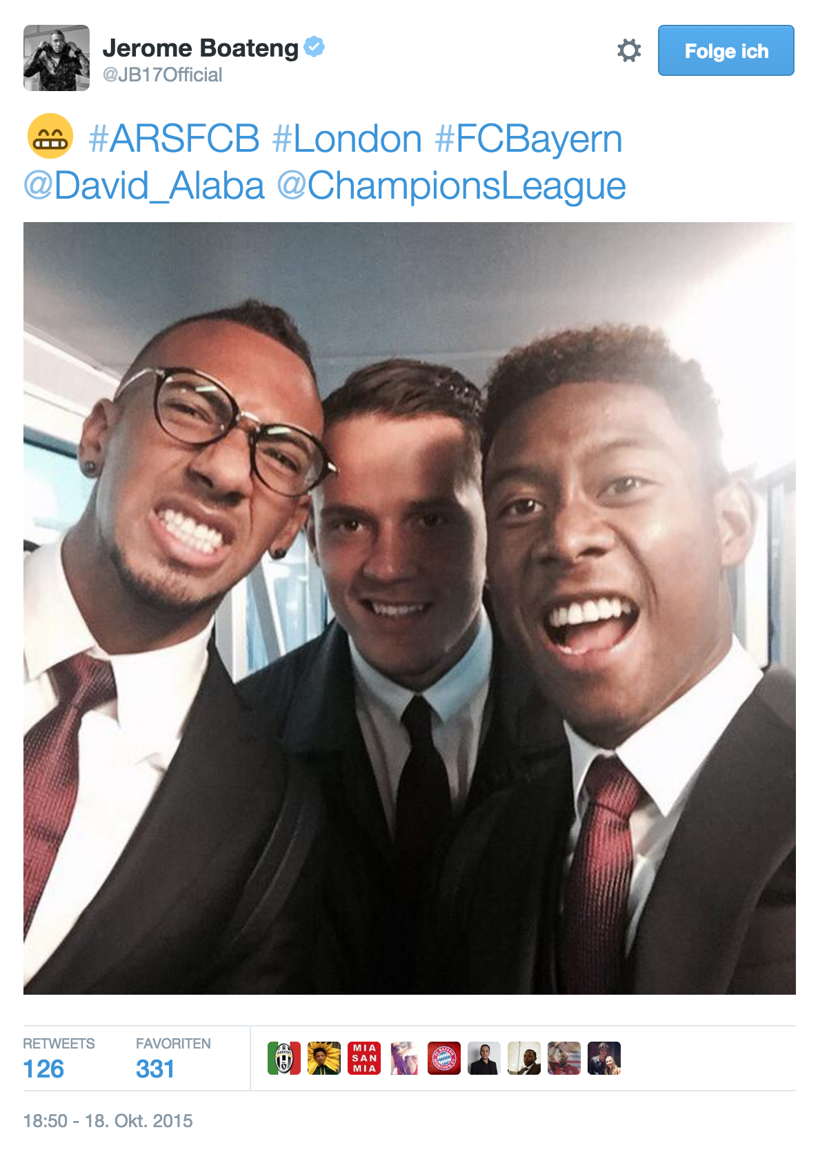 Jerome Boateng Selfie